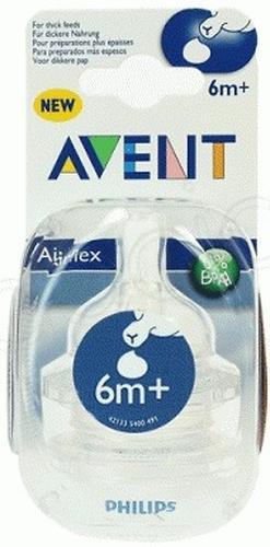 Соска Avent силикон, для густых жидкостей 6мес+, 2шт (1)