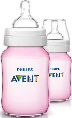 Бутылочка Avent Classic+ 260мл 2шт розовая (7)