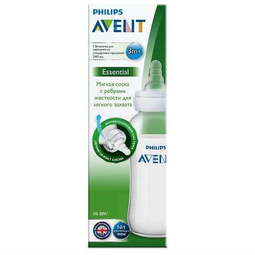 Бутылочка для кормления Avent Essential 240 мл 1 шт (9)