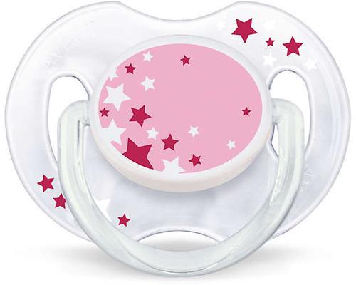 Пустышка Avent силиконовая ночная 0-6 мес розовая 2 шт/уп (6)