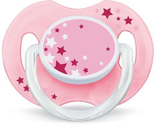 Пустышка Avent силиконовая ночная 0-6 мес розовая 2 шт/уп (5)