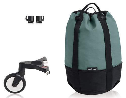 Сумка для коляски Babyzen YoYo с колесом Rolling Bag Aqua (6)