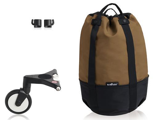 Сумка для коляски Babyzen YoYo с колесом Rolling Bag Toffee (5)