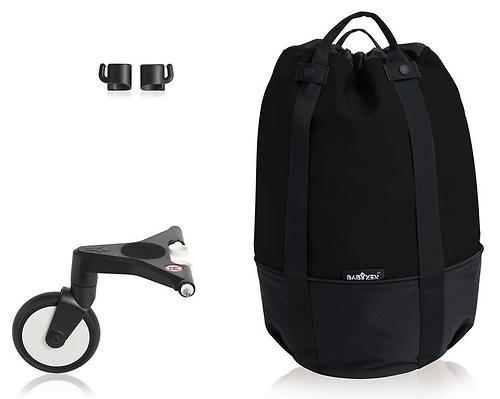 Сумка для коляски BABYZEN YOYO с колесом Rolling Bag Black (5)