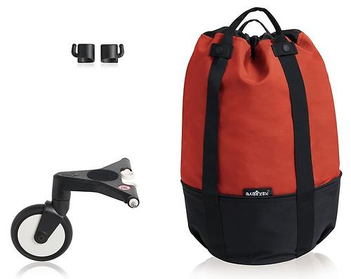 Сумка для коляски Babyzen YoYo с колесом Rolling Bag Red (6)