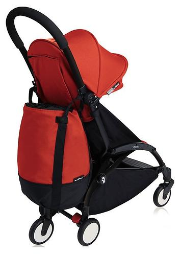 Сумка для коляски Babyzen YoYo с колесом Rolling Bag Red (8)