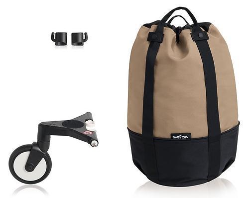 Сумка для коляски BABYZEN YOYO с колесом Rolling Bag Taupe (5)
