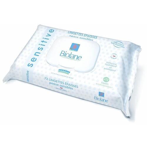 Салфетки Biolane очищающие увлажняющие для чувствительной кожи 72 шт (1)