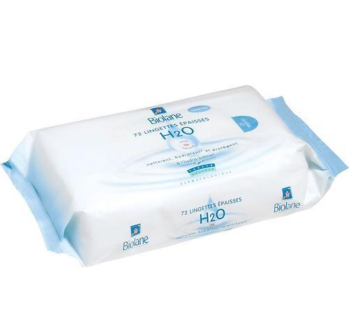 Салфетки увлажняющие для лица и тела BIOLANE Н2О 72 шт/уп (1)