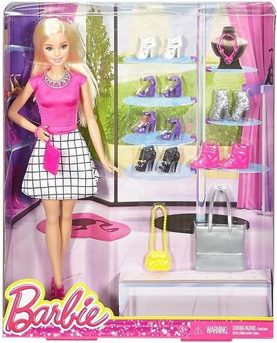 Игровой набор Barbie Модный гардероб с аксессуарами Блондинка (4)