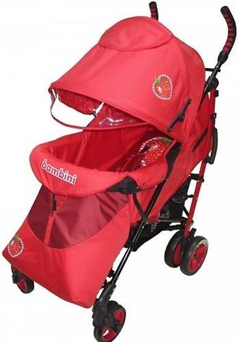 Коляска Bambini Shuttle + накидка на ножки Red Strawberry (6)