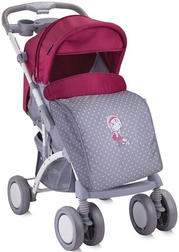 Коляска Bertoni APOLLO + сумка для мамы Grey-Pink Girl 1644 (5)