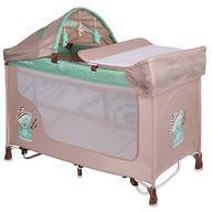 Кровать-манеж Lorelli San Remo 2 Plus Rocker Beige-Green Sleeping Bear 1802
