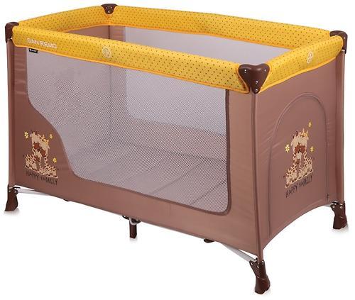 Кровать-манеж Lorelli San Remo 1 Beige-Yellow Family 1803 (1)
