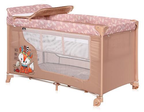 Кровать-манеж Lorelli MOONLIGHT 2 Beige Foxy 2042 (4)