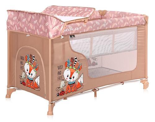 Кровать-манеж Lorelli MOONLIGHT 2 Beige Foxy 2042 (5)