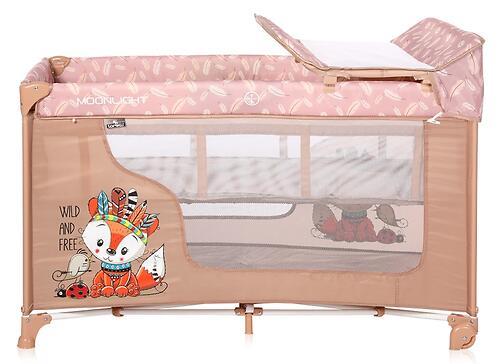 Кровать-манеж Lorelli MOONLIGHT 2 Beige Foxy 2042 (6)