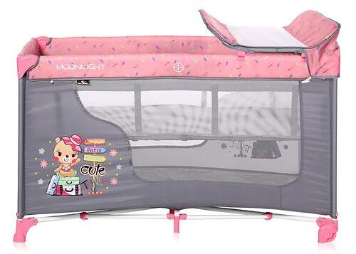 Кровать-манеж Lorelli MOONLIGHT 2 Pink Travelling 2046 (6)