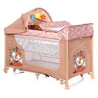 Кровать-манеж Lorelli MOONLIGHT 2 Plus Rocker Beige Foxy 2042