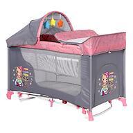 Кровать-манеж Lorelli MOONLIGHT 2 Plus Rocker Pink Travelling 2046
