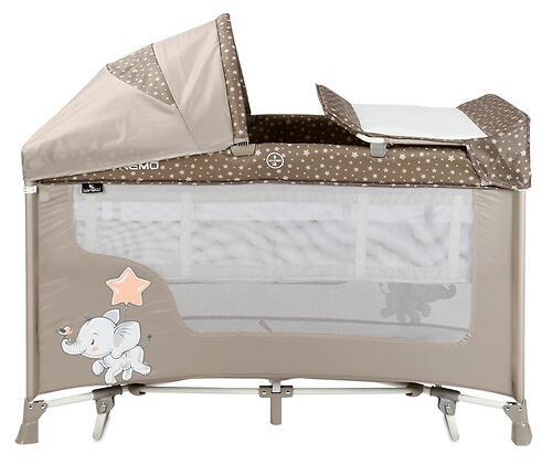Кровать-манеж Lorelli San Remo 2 Plus Rocker Beige Elephant 2071 (6)