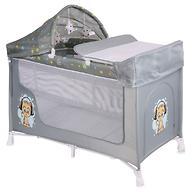 Кровать-манеж Lorelli San Remo 2 Plus Grey Cute Kitten 1805