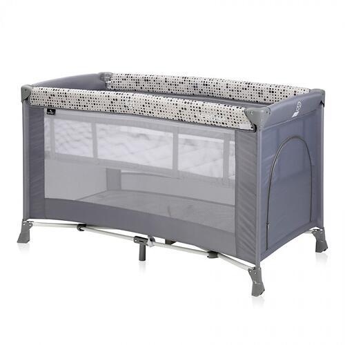 Кровать-манеж Bertoni Verona 2 Grey Dots 2078 (3)