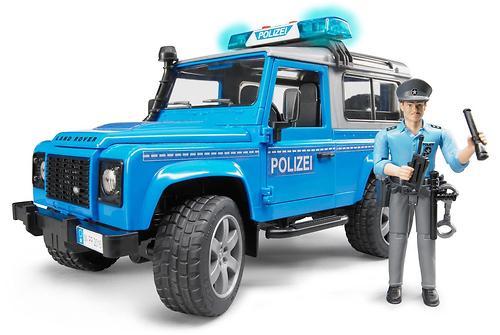 Внедорожник Bruder Land Rover Defender Station Wagon Полицейская с фигуркой (4)