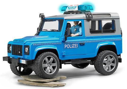 Внедорожник Bruder Land Rover Defender Station Wagon Полицейская с фигуркой (6)