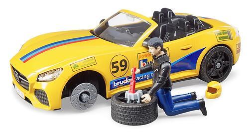 Внедорожник Bruder Ram с автомобилем Roadster (8)