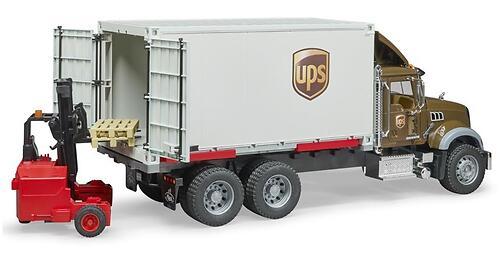 Фургон Bruder Mack UPS с погрузчиком и паллетами (6)