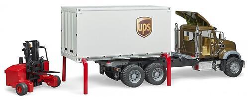 Фургон Bruder Mack UPS с погрузчиком и паллетами (8)