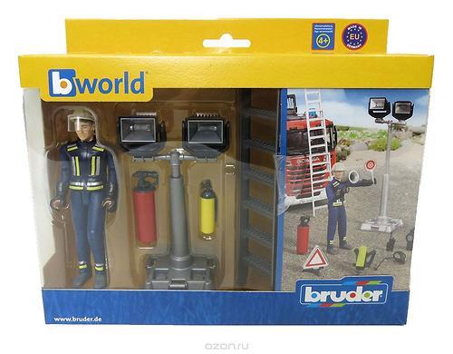 Фигурка пожарного Bruder 107 мм с аксессуарами (8)