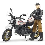 Мотоцикл Bruder Scrambler Ducati Desert Sled с мотоциклистом