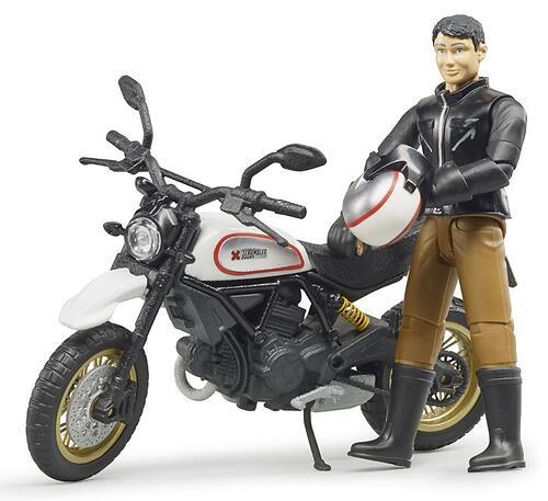 Мотоцикл Bruder Scrambler Ducati Desert Sled с мотоциклистом (4)