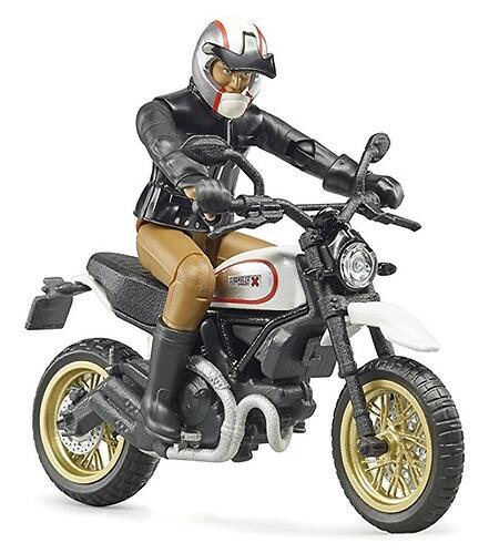 Мотоцикл Bruder Scrambler Ducati Desert Sled с мотоциклистом (5)