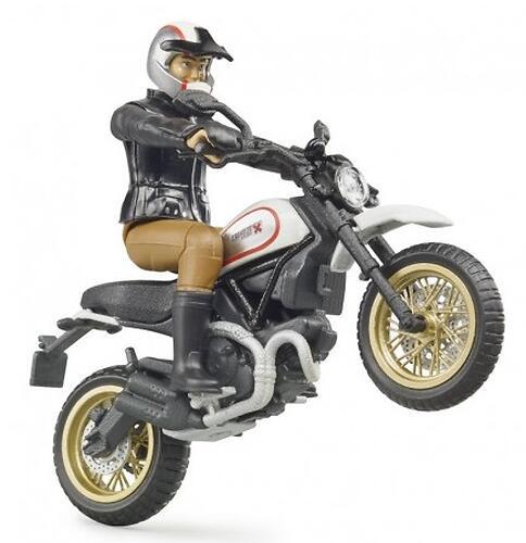 Мотоцикл Bruder Scrambler Ducati Desert Sled с мотоциклистом (6)