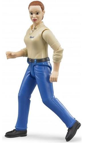Фигурка женщины Bruder голубые джинсы (7)