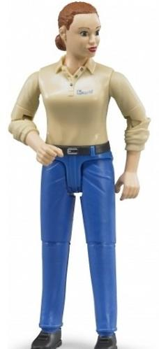 Фигурка женщины Bruder голубые джинсы (5)