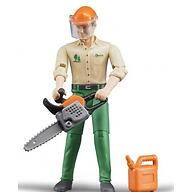 Фигурка Bruder лесозаготовщика с аксессуарами