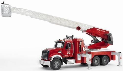Bruder пожарная машина с выдвижной лестницей и помпой MACK (4)