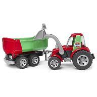 Bruder трактор с ковшом и прицепом Roadmax