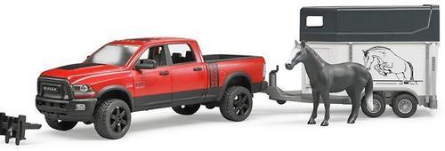 Пикап Bruder c коневозкой и одной лошадью RAM 2500 (5)