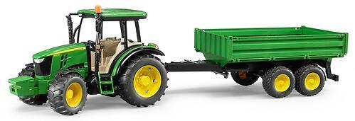 Трактор Bruder John Deere 5115M с прицепом (4)