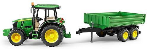 Трактор Bruder John Deere 5115M с прицепом (5)