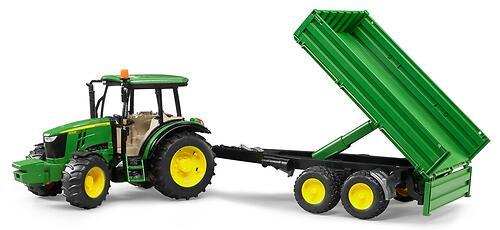 Трактор Bruder John Deere 5115M с прицепом (6)