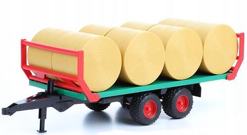 Прицеп Bruder для перевозки рулонов сена с 8 рулонами (3)