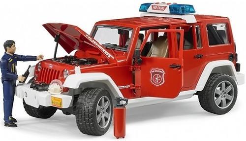 Внедорожник Bruder Jeep Wrangler Unlimited Rubicon Пожарная с фигуркой (9)