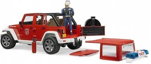 Внедорожник Bruder Jeep Wrangler Unlimited Rubicon Пожарная с фигуркой (11)