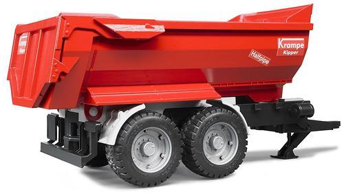 Трактор Bruder Case IH Optum 300 CVX с прицепом Krampe Tandem-Halfpipe (5)